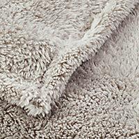 Takeo Beige Plain Fleece Throw