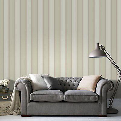 Taylor Green Striped Wallpaper   DIY at B&Q