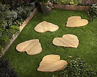 Teak Veined leaf Stepping stone