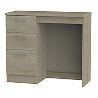 Tenby Dark oak effect 3 Drawer Desk (H)795mm (W)930mm (D)415mm