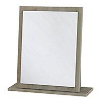 Tenby Oak effect Rectangular Framed Mirror (H)505mm (W)480mm