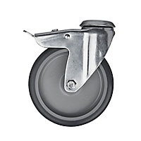 Tente Braked Zinc-plated Swivel Castor, (Dia)100mm (Max. Weight)70kg
