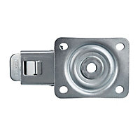 Tente Braked Zinc-plated Swivel Castor, (Dia)80mm (Max. Weight)70kg