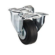 Tente Zinc-plated Fixed Castor, (Dia)80mm (Max. Weight)70kg