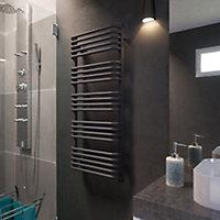 Terma Alex ONE 600W Electric Modern grey Towel warmer (H)1140mm (W)500mm