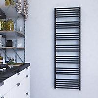 Terma Alex ONE 800W Electric Modern grey Towel warmer (H)1580mm (W)500mm