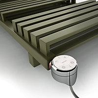 "Terma Chrome effect 200W Thermostatic Enamel heating element, ½"" BSP"