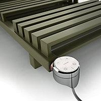 "Terma Chrome effect 600W Thermostatic Enamel heating element, ½"" BSP"