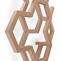 Terma Hex Vertical Designer Radiator, Bright Copper (W)573mm (H)1700mm