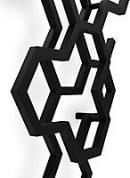 Terma Hex Vertical Designer Radiator, Matt Black (W)486mm (H)1220mm