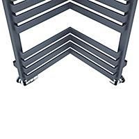 Terma Incorner 808W Modern grey Towel warmer (H)1545mm (W)350mm