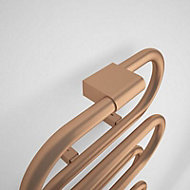 Terma Ouse 391W Electric Galvanic old copper Towel warmer (H)1437mm (W)500mm