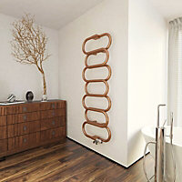 Terma Ouse 391W Galvanic old copper Towel warmer (H)1437mm (W)500mm