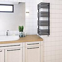 Terma Outcorner 547W Modern grey Towel warmer (H)1005mm (W)300mm