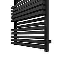 Terma Quadrus 1000W Electric Metallic black Towel warmer (H)1185mm (W)600mm