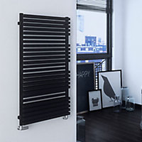 Terma Quadrus 1113W Metallic black Towel warmer (H)1185mm (W)600mm