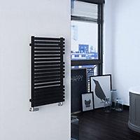 Terma Quadrus 531W Metallic black Towel warmer (H)870mm (W)450mm