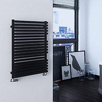 Terma Quadrus 708W Electric Metallic black Towel warmer (H)870mm (W)600mm