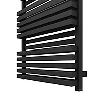 Terma Quadrus 800W Electric Metallic black Towel warmer (H)1185mm (W)450mm