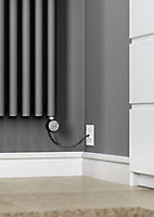 Terma Rolo room Vertical Electric designer Radiator, Modern grey (W)370mm (H)1800mm