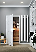 Terma Rolo room Vertical Electric designer Radiator, White (W)480mm (H)1800mm