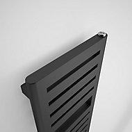 Terma Salisbury 386W Metallic black Towel warmer (H)1360mm (W)300mm