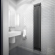 Terma Tune Vertical Designer Radiator, Metallic black (W)290mm (H)1800mm