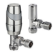 Terrier Decor Chrome-plated Angled Thermostatic Radiator valve