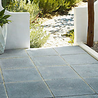 Textured Dark grey Paving slab (L)450mm (W)450mm, Pack of 40