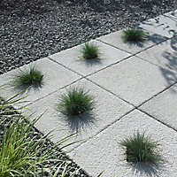Textured Grey Paving slab (L)450mm (W)450mm, Pack of 40