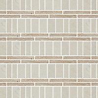 Thala Beige Natural stone Border tile, (L)305mm (W)80mm