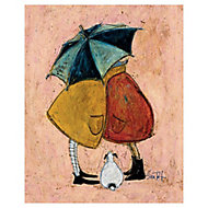 The Art Group Sam Toft A Sneaky One Multicolour Canvas art (H)500mm (W)400mm