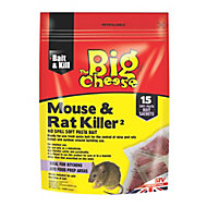 The Big Cheese Rat & mouse Rodent bait, Pack of 15