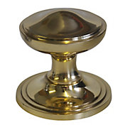 The House Nameplate Company Brass Round External Door knob (Dia)80mm