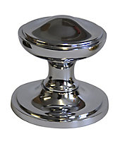 The House Nameplate Company Chrome-plated Round External Door knob (Dia)80mm