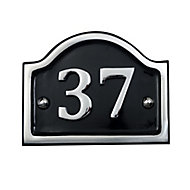 The House Nameplate Company Polished Aluminium House number 39, (H)115mm (W)115mm