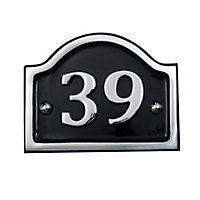 The House Nameplate Company Polished Aluminium House number 40, (H)115mm (W)115mm