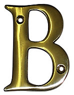 The House Nameplate Company Polished Brass House letter B, (H)100mm (W)65mm