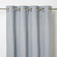 Tiga Blue grey Plain Unlined Eyelet Curtain (W)117cm (L)137cm, Single