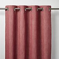 Tiga Red Plain Unlined Eyelet Curtain (W)167cm (L)228cm, Single
