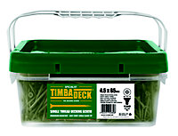 Timbadeck Carbon steel Decking screw (Dia)4.5mm (L)65mm, Pack of 1300