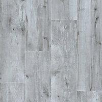 Timberwood Grey Matt Wood effect Porcelain Outdoor Floor Tile, Pack of 2, (L)1200mm (W)300mm
