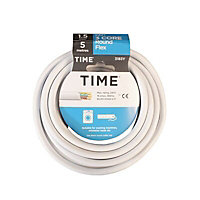 Time 3183Y White 3 core Multi-core cable 1.5mm² x 5m