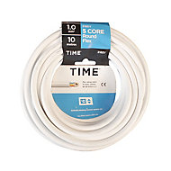 Time 3185Y White 5 core Multi-core cable 1mm² x 10m