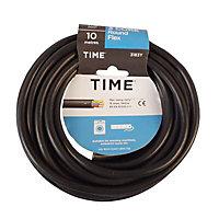 Time Black 3 core Multi-core cable 10m