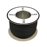 Time Black 3 core Multi-core cable 25m