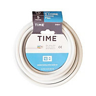 Time White 5 core Multi-core cable 5m