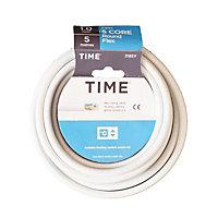 Time White 5 core Multi-core cable 5m
