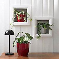 Tiwlip Glazed Brushed Dark red Ceramic Mottled Plant pot (Dia)33cm