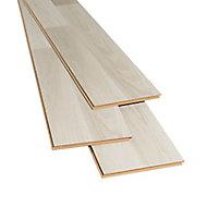 Townsville Grey Gloss Oak effect Laminate Flooring Sample